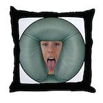 Tongue Massage Throw Pillow