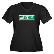 Varick Street in NY Women's Plus Size V-Neck Dark
