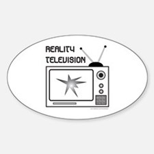 REALITY TV Oval Decal