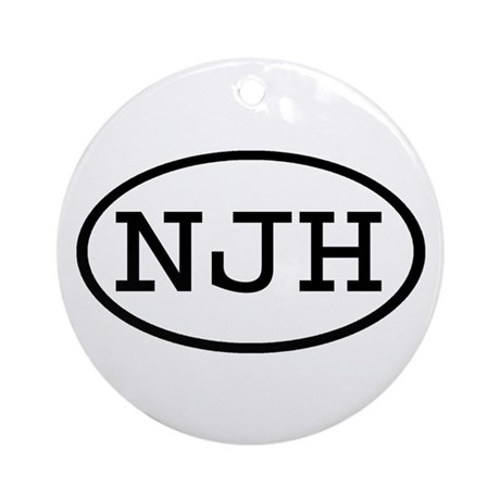 NJH Oval Ornament (Round)