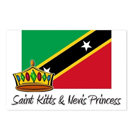 Saint Kitts & Nevis Princess Postcards (Package of