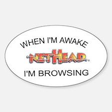 NetHead Browsing Oval Decal