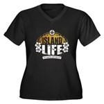 Island Life Women's Plus Size V-Neck Dark T-Shirt