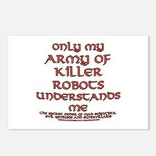 Army of Killer Robots Joke Postcards (Package of 8