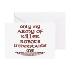 Army of Killer Robots Joke Greeting Card