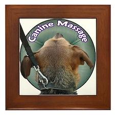 Canine Massage Framed Tile