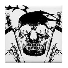Inked Skull Tile Coaster