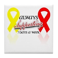 Always Supporting 7 Days Tile Coaster