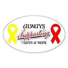 Always Supporting 7 Days Oval Decal