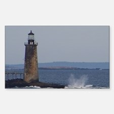 Scenic Ram Island Lighthouse Rectangle Decal