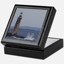 Scenic Ram Island Lighthouse Keepsake Box