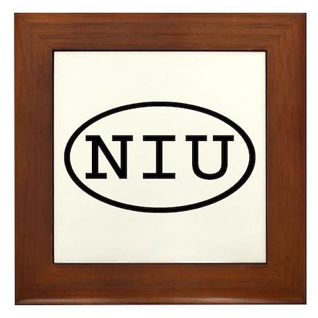 NIU Oval Framed Tile