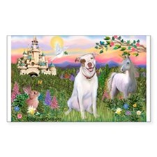 The Castle /Pit Bull Rectangle Decal