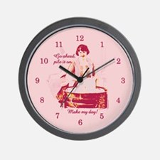 Make My Day Laundry Wall Clock