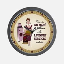 No Laundry Service Wall Clock