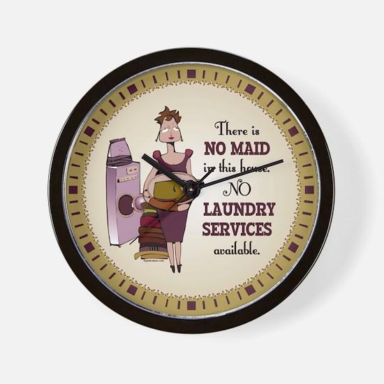 No Laundry Service Wall Clock