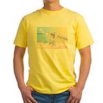 Dog Angel / Pit Bull Yellow T-Shirt