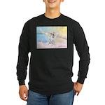 Dog Angel / Pit Bull Long Sleeve Dark T-Shirt