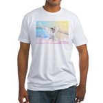 Dog Angel / Pit Bull Fitted T-Shirt