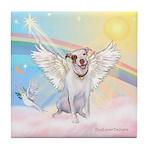 Dog Angel / Pit Bull Tile Coaster