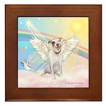 Dog Angel / Pit Bull Framed Tile