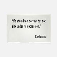 Confucius Sorrow Quote Rectangle Magnet (10 pack)