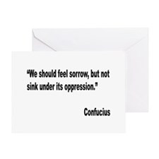 Confucius Sorrow Quote Greeting Card