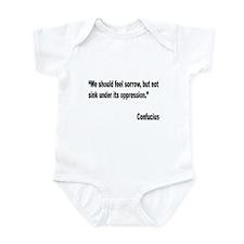 Confucius Sorrow Quote Infant Bodysuit