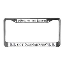 Schnauzer Dog Auto Parts License Plate Frame