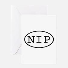 NIP Oval Greeting Card