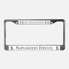 Schnauzer Dog Auto Parts License Plate Frame
