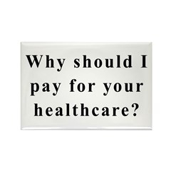 No Socialized Healthcare Rectangle Magnet