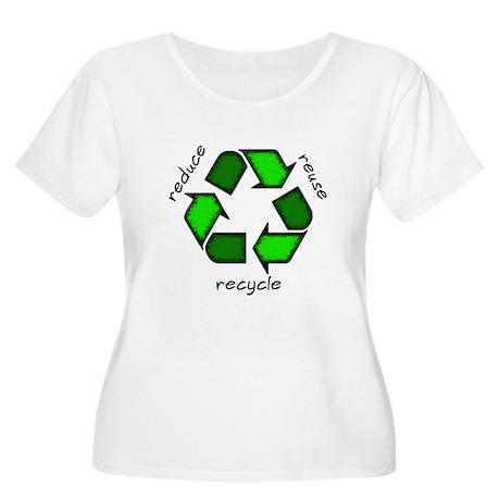 Reduce, Reuse, Recycle Women's Plus Size Scoop Nec