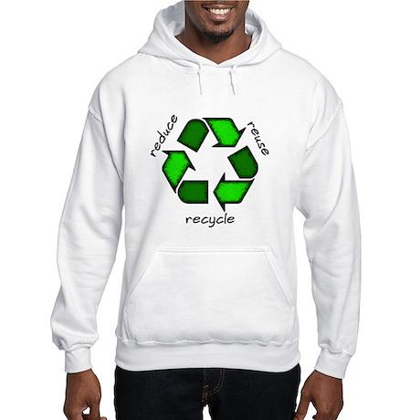 Reduce, Reuse, Recycle Hooded Sweatshirt