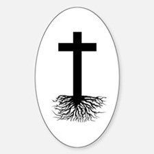 Rooted In Christ Oval Stickers