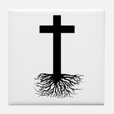 Rooted In Christ Tile Coaster