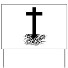 Rooted In Christ Yard Sign