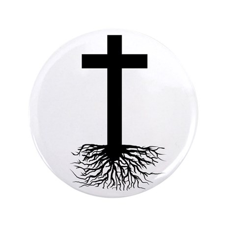 "Rooted In Christ 3.5"" Button (100 pack)"