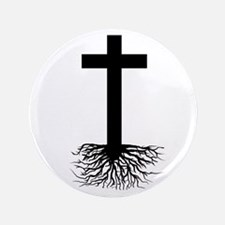 """Rooted In Christ 3.5"""" Button"""