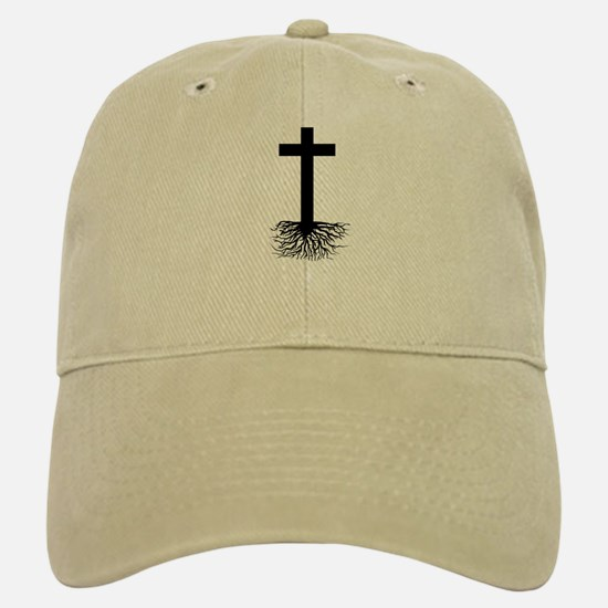 Rooted In Christ Baseball Baseball Cap