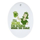 Adult humor Oval Ornaments