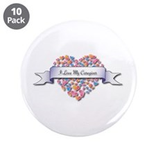 """Love My Caregiver 3.5"""" Button (10 pack)"""