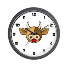 Bull Head Wall Clock