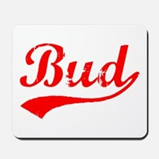 Vintage Bud (Red) Mousepad