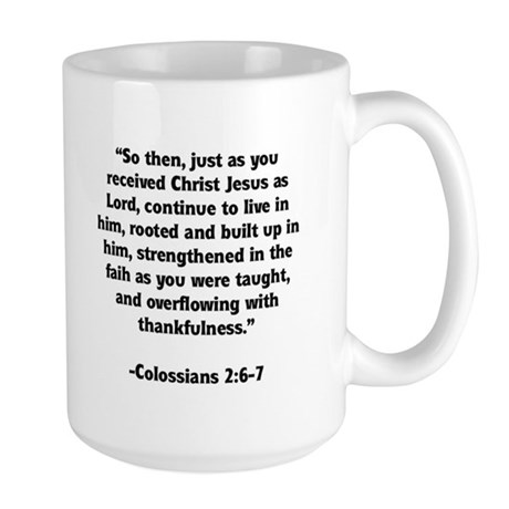 Rooted in Christ Memory Verse Large Mug