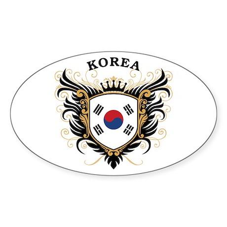 S. Korea Sticker (Oval)