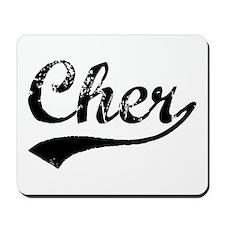 Vintage Cher (Black) Mousepad