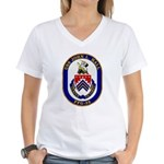 USS JOHN L. HALL Women's V-Neck T-Shirt