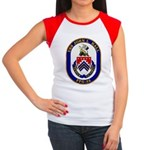 USS JOHN L. HALL Junior's Cap Sleeve T-Shirt