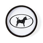 Chihuahua Oval Wall Clock